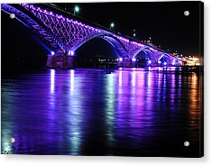 Peace Bridge Supporting Breast Cancer Awareness Acrylic Print by Michael Frank Jr