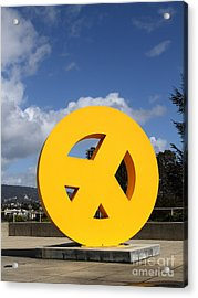Peace From The Oakland Museum . Oakland California . 7d13411 Acrylic Print by Wingsdomain Art and Photography