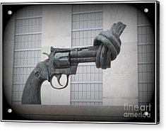 Peace Is The Answer - Iconic New York City Sculpture Acrylic Print