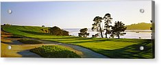 Pebble Beach Golf Course, Pebble Beach Acrylic Print by Panoramic Images