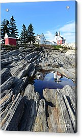Pemaquid Point Light Acrylic Print by Catherine Reusch Daley