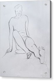 Pencil Sketch 2.2011 Acrylic Print by Mira Cooke
