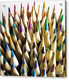 Pencils Acrylic Print by Bernard Jaubert