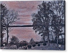 Acrylic Print featuring the painting Pennsylvania Landscape by Joan Reese