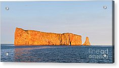 Acrylic Print featuring the photograph Perce Rock At Sunset by Elena Elisseeva