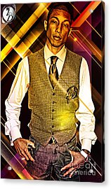 Pharrell Acrylic Print by The DigArtisT