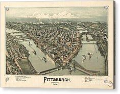 Philadelphia 1868 Acrylic Print