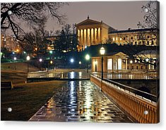 Acrylic Print featuring the photograph Philadelphia Art Museum by Songquan Deng
