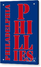 Philadelphia Phillies Typography Acrylic Print