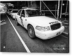 Philadelphia Police Ford Crown Vic Cruiser Patrol Car Vehicle Usa Acrylic Print