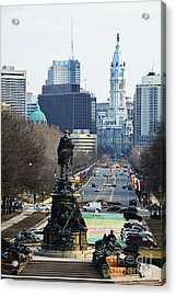 Philadelphia - The Parkway Acrylic Print