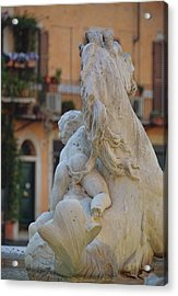 Piazza Fountain Views Acrylic Print by JAMART Photography