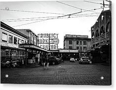 Pike Place Market Acrylic Print by Tanya Harrison