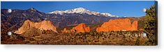 Pike's Peak And Garden Of The Gods Acrylic Print by Jon Holiday