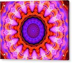 Pink 16-petals Kaleidoscope Acrylic Print