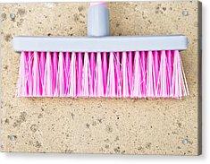 Pink Broom Acrylic Print