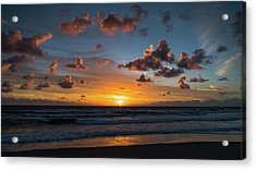Pink Cloud Sunrise Delray Beach Florida Acrylic Print