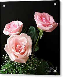 Pink Elegance Acrylic Print by Marsha Heiken