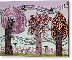 Pink Grove Acrylic Print by Graciela Bello