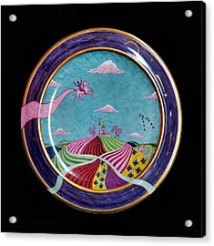 Pink Horse. Acrylic Print by Vladimir Shipelyov