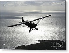 Piper L-4 Cub In Us Army D-day Colors Acrylic Print by Daniel Karlsson