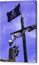 Pirate Flag On Ships Mast Acrylic Print