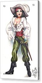 Pirate Girl Acrylic Print by Scarlett Royal