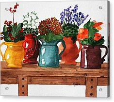 Pitchers In Bloom Acrylic Print