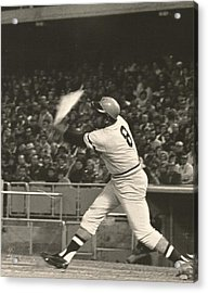Pittsburgh Pirate Willie Stargell Batting At Dodger Stadium  Acrylic Print by Jamie Baldwin