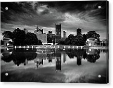 Pittsburgh  Reflections  Acrylic Print by Emmanuel Panagiotakis