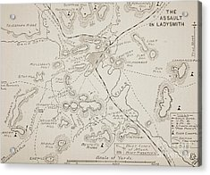 Plan Of The Assault On Ladysmith Acrylic Print