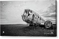 Plane Crash Iceland Acrylic Print
