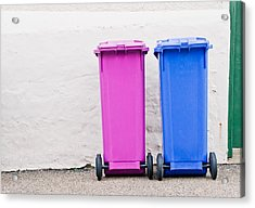 Plastic Bins Acrylic Print