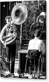 Playing Jazz In New Orleans Acrylic Print by John Rizzuto