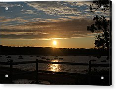 Pleasant Bay Sunset Acrylic Print by Amy Coomber Eberhardt
