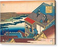 Poem By Ise Acrylic Print by Katsushika Hokusai