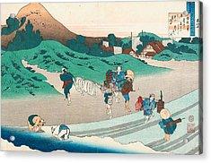 Poem By Jito Tenno Acrylic Print by Katsushika Hokusai