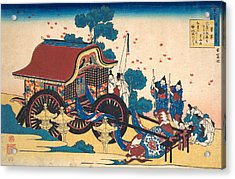 Poem By Kanke Acrylic Print by Katsushika Hokusai