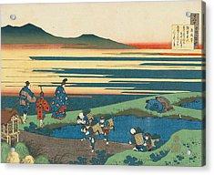 Poem By Sangi Hitoshi Acrylic Print by Katsushika Hokusai