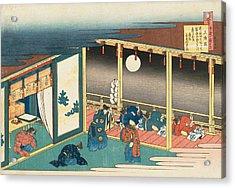 Poem By Sanjo-in Acrylic Print by Katsushika Hokusai