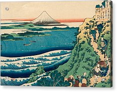 Poem By Yamabe No Akahito Acrylic Print by Katsushika Hokusai