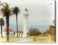 Point Vincente Lighthouse, California In Retro Style Acrylic Print
