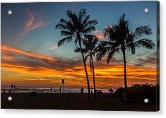 Poipu Beach Sunset - Kauai Hi Acrylic Print