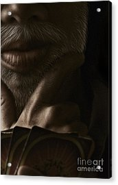 Poker Face Acrylic Print