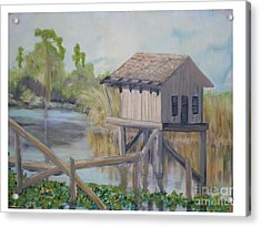 Pole House Acrylic Print by Hal Newhouser