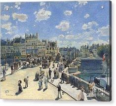 Pont Neuf  Paris Acrylic Print by Pierre Auguste Renoir