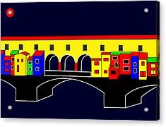 Ponte Vecchio Inspirations Acrylic Print by Asbjorn Lonvig
