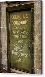 Pool Room Acrylic Print