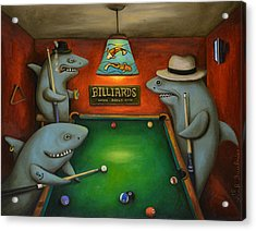 Pool Sharks Acrylic Print