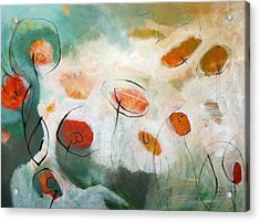 Poppies In The Clouds Acrylic Print by Teofana Zaric